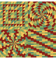 Set of four geometric pattern vector image