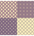 Set of four seamless abstract patterns vector image