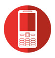 mobile phone call technology shadow vector image