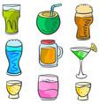 art drink various doodles vector image