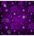 Seamless dark violet vintage pattern vector image