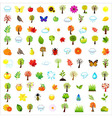Set Of Natural Elements vector image vector image
