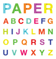 paper letters colour vector image
