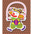 Clown jumping vector image