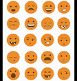 icons set 20 emotional smiles vector image vector image