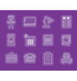 Simple Business office and firm icons vector image vector image
