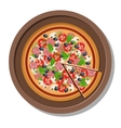 Pizza on a plate  Isolated on vector image vector image