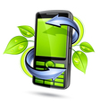 green eco mobile telephone vector image