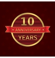 10 years anniversary vector image
