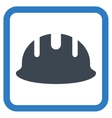 Builder Hardhat Flat Icon vector image