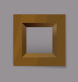 gold metal square frame blank vector image