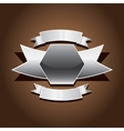 metallic automotive motorcycle badge vector image