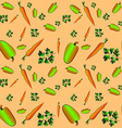 Parsley peppers carrots vector image