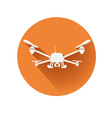 quadcopter symbol vector image