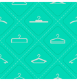 seamless background with hangers vector image