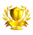 Trophy gold vector image