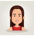 cartoon woman female isolated vector image