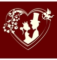 Silhouettes of fairy-tale Prince and Princess vector image