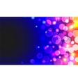 Abstract horizontal background with shiny blue and vector image