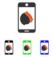 mobile erotic tits flat icon vector image