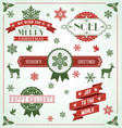 Vintage Holiday Banner Set vector image