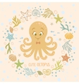cute octopus vector image vector image