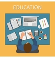 Workplace Endless education Training and online vector image