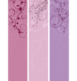 floral panels vector image vector image