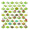 City Map Set 03 Tiles Isometric vector image