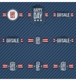 Independence Day Sale patriotic Elements Set vector image