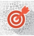 Business target icons vector image