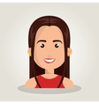 cartoon woman female isolated vector image