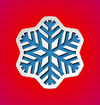 Cut out christmas snowflake vector image
