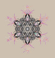 design winter doodles hand drawn snowflake cute vector image
