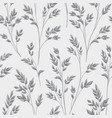 floral pattern with leaves ornamental herb branch vector image
