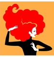 hair elegant red vector image