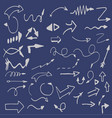 hand-drawn isolated sketchy arrows colored - vector image