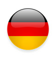 Round icon with flag of Germany vector image