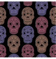 Seamless pattern made of skulls vector image