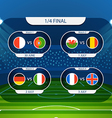 Different country flags collection Football vector image vector image