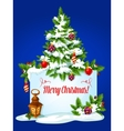 Christmas tree winter holidays greeting card vector image
