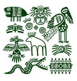 aztec and inca native tribal signs vector image