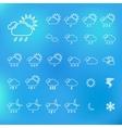 Trendy Thin Weather Icon Set vector image