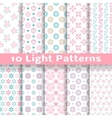 Light floral romantic seamless patterns tiling vector image vector image