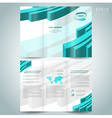 3d line brochure design template leaflet turquoise vector image vector image