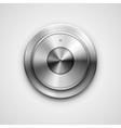 Metallic knob vector image