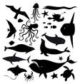 Set of marine animals vector image