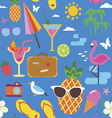 Summer vaccations seamless print vector image