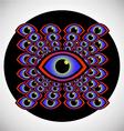 Psychedelic eye vector image