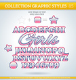 Girls Graphic Styles for Design use for decor text vector image